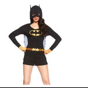 Batman Women's Romper Costume With Cape And Hood